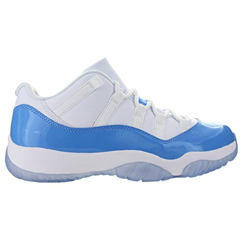 Jordan Men's Air 11 Retro Low, WHITE/UNIVERSITY BLUE, 10.5 M US - Blue And White Retro Jordans