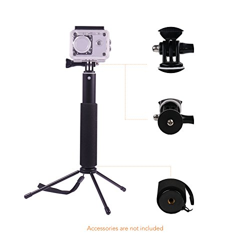 Apeman Selfie Stick Self-portrait Extendable Aluminum Monopod Holder Perfectly Compatiable with action cameras, smartphones, waterproof cases by APEMAN (Image #4)