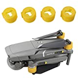 Silicone Motor Cover Caps for DJI Mavic 2 Drone, 4PCS Silicone Motor Cover Caps Dust Cover Spare Parts Motor Protection (Yellow)