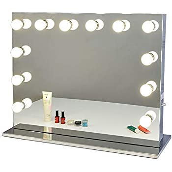 Chende Vanity Mirror with Light Hollywood Makeup Mirror Lighted Mirror + Free LED Bulbs (8065)