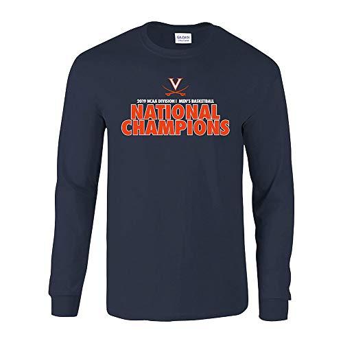 - Elite Fan Shop Virginia Cavaliers National Basketball Champions Long Sleeve Tshirt 2019 Bold Navy - XXL