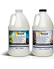 Krystal Resin | 1 Gallon (3.8 L) | Crystal Clear Epoxy Resin Kit | Non-Toxic, Odor Free | High Gloss Thick Clear Coat | For Table Tops, Bar Tops, Counter Tops and Artworks | 1:1 Mixing Ratio | 100% Solid