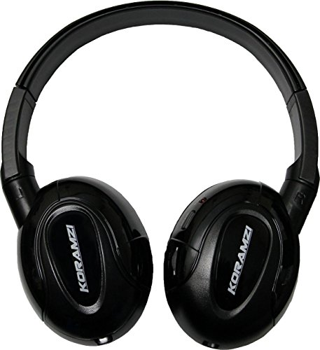 Koramzi IR900 IR Infrared Wireless foldable Headphones With AUX input designed for In-Car TV, DVD, & Video Listening, with auto shut off function(Works only with IR and AUX cable- Not for home use) (Headphones Wireless High Quality Infrared)