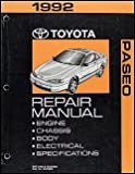1992 Toyota Paseo Repair Manual Factory Shop Manual