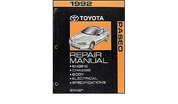 1992 toyota paseo repair manual factory shop manual toyota amazon rh amazon com 1993 toyota paseo repair manual 1992 Toyota Paseo Engine Diagram