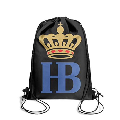 - Hofbr?uhaus-HB- Drawstring Backpack Adjustable Gym Sack Bag