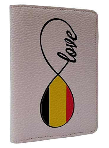 [OxyCase] Designer Light Weight PU Leather Passport Holder Cover/Case - Infinity Love Belgium Flag Design Printed Cute Travel Wallet for Girls/Women by OxyCase (Image #3)