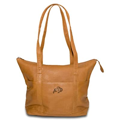 NCAA Colorado Buffaloes Tan Leather Women's Tote