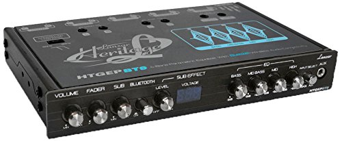 Lanzar HTGEPBT9 Heritage Series 4-Band EQ Parametric Equalizer with Bluetooth Wireless Audio Connectivity Sound Around