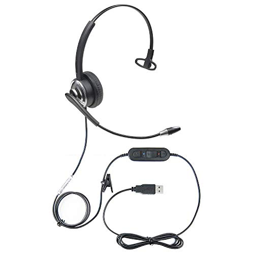 Microphone Voice Recognition Software - Executive Communication Systems ECS WordCommander USB Voice Recognition Dictation Headset with Noise Cancellation Microphone