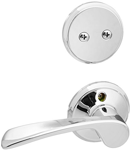 Schlage F94MER625RH Polished Chrome Merano Lever Right Handed Dummy Interior Pack from the F-Series (F-series Lever Chrome Merano)