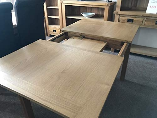 Solid Oak Extending Dining Table And Four Kelsey Leather Chairs With Solid Oak Legs Dining Set (With Ivory Chairs)