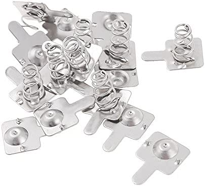 YXQ AA Battery Spring Plate Set Contact Positive Negative Conversion Silver Tone 50Pairs,A044