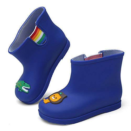 CIOR Little Kids Waterproof Animal Rain Boots Various Colors For Girls Boys Toddler Water Shoes,TYX03, Blue,26 - Image 2