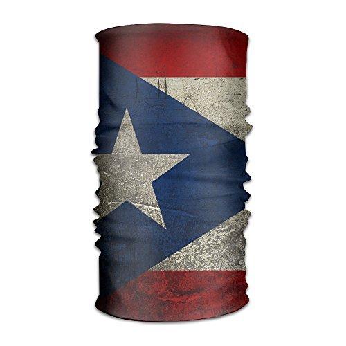 DahelinG Unisex Stylish Grunge Puerto Rico Flag Quick Dry Microfiber Headwear Outdoor Magic Bandana As Neck Gaiter Head Wrap Headband Scarf Face Mask Ultra Soft Elastic One Size