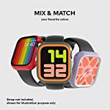 RhinoShield Bumper Case Compatible with Apple Watch Series 5/4 - [44mm] | Slim Protective Cover, Lightweight and Shock Absorbent - Black