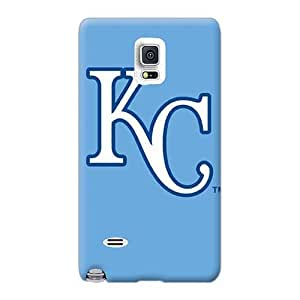 Case88zeng Samsung Galaxy Note 4 Perfect Cell-phone Hard Cover Support Personal Customs Trendy Kansas City Royals Image [pGu2074CZpX]
