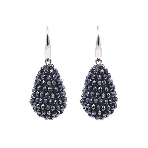 - Long Drop Earrings Beaded Multicolor Handmade Threading Crystal Big Earrings For Women Gift Jewelry Boho,Dark Blue