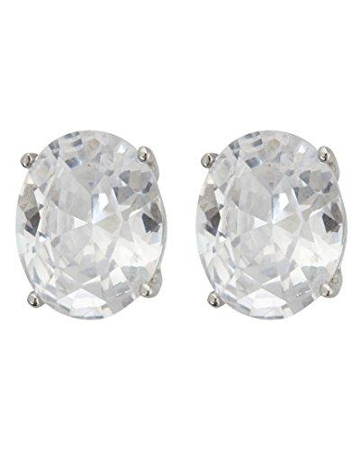Triple Oval Earrings (Sterling Silver 6x8mm AAA Oval Solitaire Stud Earrings (sterling-silver))