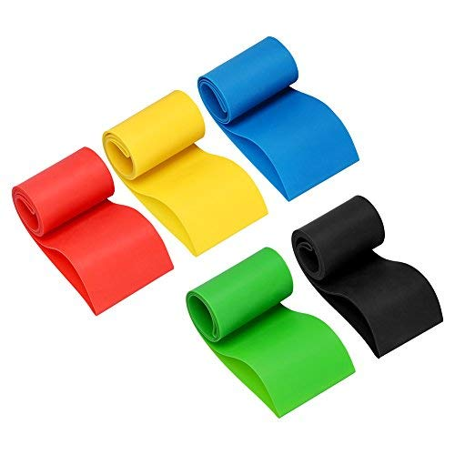(RUNACC Resistance Loop Bands Latex Exercise Band Stretch Resistant Pull Rings for Crossfit, Yoga and Physical Therapy, Set of 5)