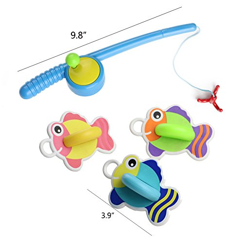 Yixin bath toys fishing game with floating fish enjoy for Fishing games for girls