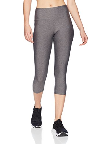 Amazon Essentials Women's Performance Capri Legging, Charcoal Heather, - Essentials Womens Pant Workout