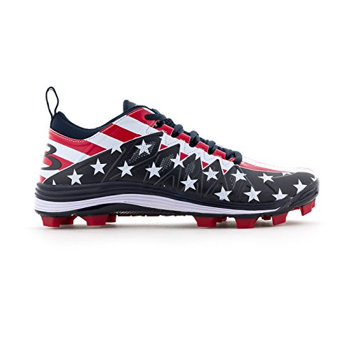 fc8e018aff4 Boombah Men s Squadron Flag 2.0 Molded Cleats Navy Red White ...