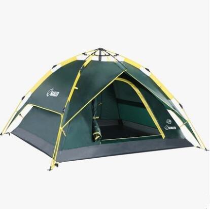 Speed Offene Zelte Outdoor 3–4 Personen Double Automatische Family Zwei Zimmer und eine Hall 2 Personen Camping Camping