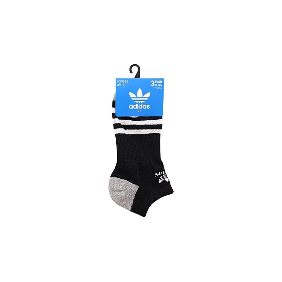 adidas Youth Originals No Show Socks (3 Pack)