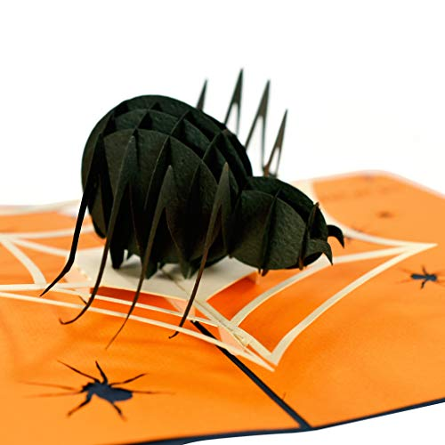 CutePopup 3D Black Spider Trick Treat Halloween Popup Greeting Card Animals Popup Card Halloween, Ideal Gifts Family Friends Cards Holder for $<!--$10.95-->