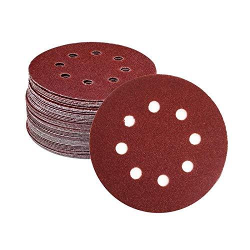 Maslin 6-Inch/150mm Sanding Disc 40-2000 Grits 8 Holes Aluminum Oxide Flocking Back Sandpapers for Sanders 100 Pcs - (Grit: 600 Grits)