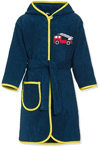 Playshoes Enfants Frottee-Bademantel Feuerwehr Robe De Chambre