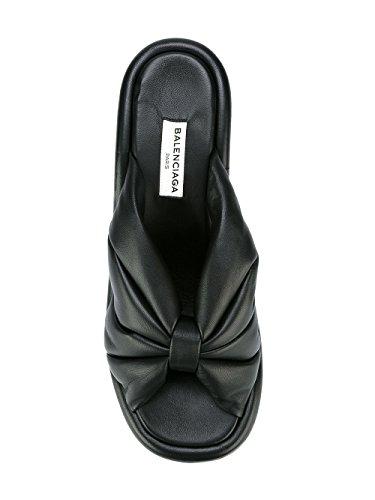 Femme 454476WAWN0BLK Chaussures Balenciaga Compensées Cuir Noir xSP1nYq8w