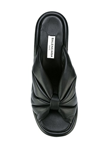 Balenciaga Cuir Chaussures Noir 454476WAWN0BLK Femme Compensées AaqrAZw