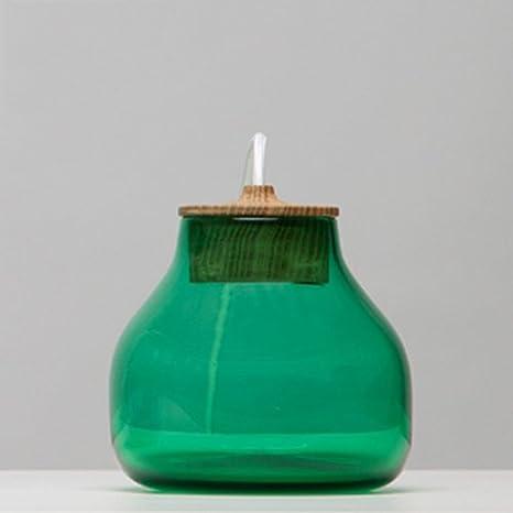 LZDHY Vidriera pequeña lámpara de escritorio botella de ...