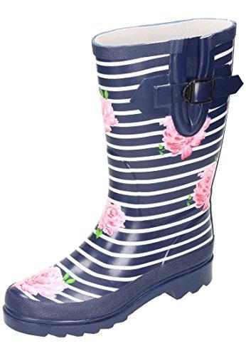 Unbekannt Women's Rubber Boots Blue HJPpht69