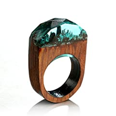 Brand: Dolland  Colour: As the picture shows  Size:Ring size of about 3.7 * 2.4 * 0.9cm diameter of about 1.9cm error of about 0.5cm Material: wood  Function: All of rings are handmade ,each one is unique,similar as photos show Creat a unique miniatu...