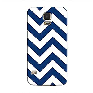 Cover It Up - Jagged Blue&White Galaxy S5Hard Case