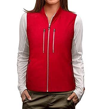 SCOTTeVEST 101 Vest-Women's - 9 Pockets, Travel Clothing, RED, M1