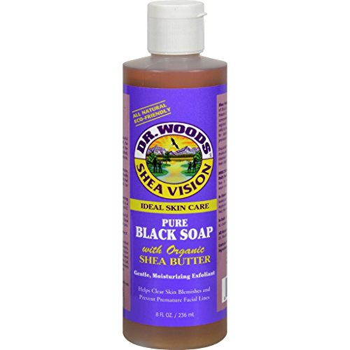 Price comparison product image dolly2u Dr. Woods Shea Vision Pure Black Soap with Organic Shea Butter - 8 fl oz