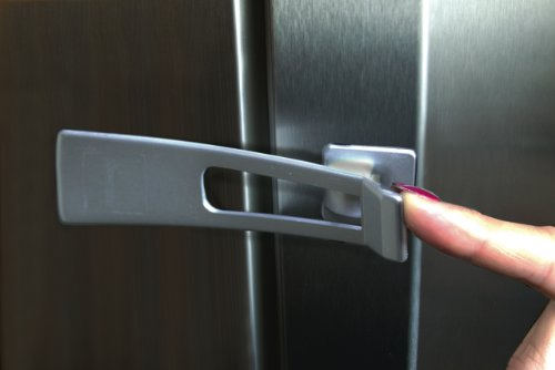 Kühlschrank Kindersicherung : Dreambaby style g1002 kühlschrank verschluss silber: amazon.de: baby