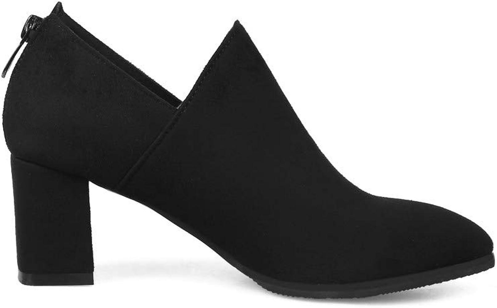 〓 YUTING 〓 Botas Cortas de tacón Alto de Moda para Mujer ...