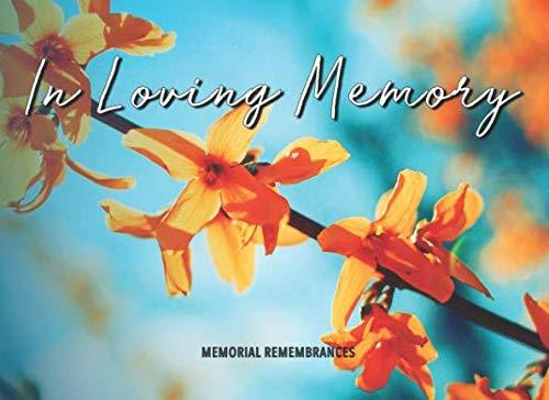 In Loving Memory: Funeral Wake Memorial Guest Book