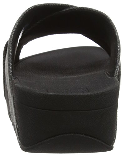 black Cross Lulu Shimmer Nero Infradito denim Fitflop Donna Slide xTO5Z