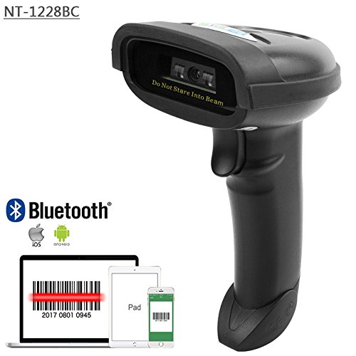 NETUM Bluetooth CCD Barcode Scanner Wireless Barcode Reader Handheld USB 1D Bar Code Imager for Mobile Payment Computer Screen Scan for POS Android iOS iMac Ipad System NT-1228BC by NETUM (Image #2)