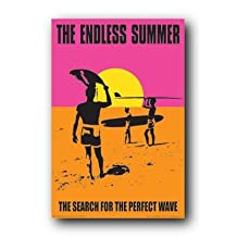 The Endless Summer Movie Holding Surfboard Poster Print - 24x36