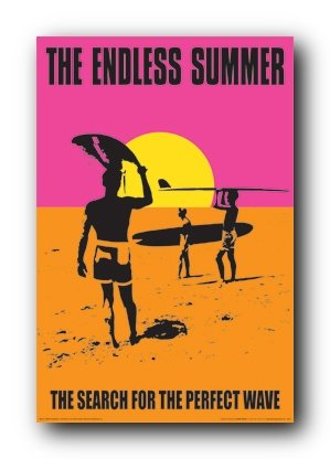 Endless Summer Holding Surfboard Poster product image