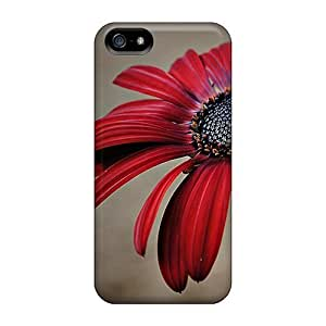 LastMemory Iphone 5/5s Well-designed Hard Case Cover Redflower Protector