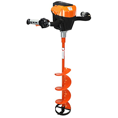Trophy Strike 107309 Ice Auger 2017 Version 120V Lithium Ion Battery Ice Auger - (Black Ice Trophy)