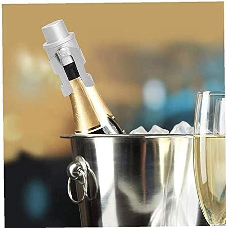 YepYes Botella De Champagne Tapón Protector De Espumoso Vino del Acero Inoxidable para El Sellado Al Vacío con Un Sistema Incorporado En La Presión De La Bomba De Plata